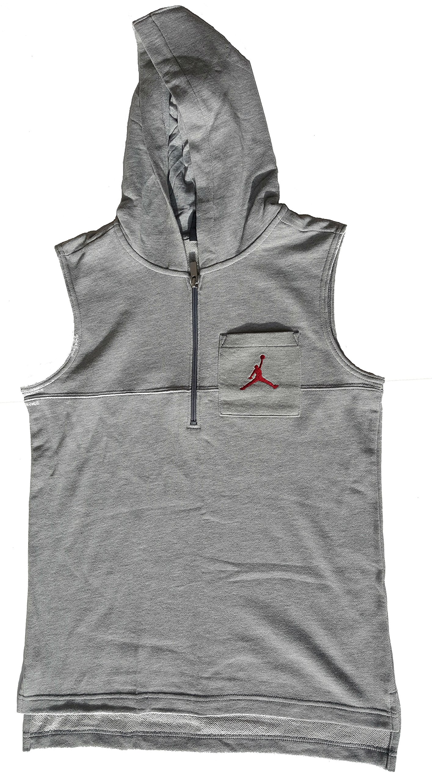 Jordan Boys Sonic Quarter Zip Vest Heather Grey L
