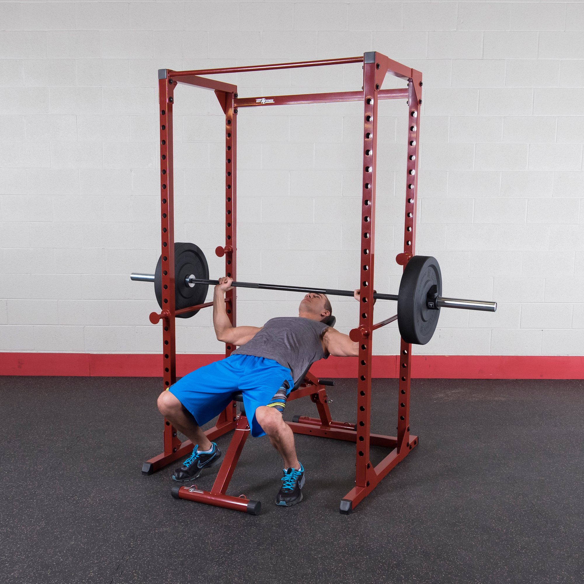 Best Fitness Power Rack Package Red Frame/ black Upholstery by Best Fitness (Image #4)