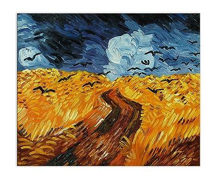 Arte dal Mondo World Art, TWVG019EAT-01, Campo di grano con corvi ...