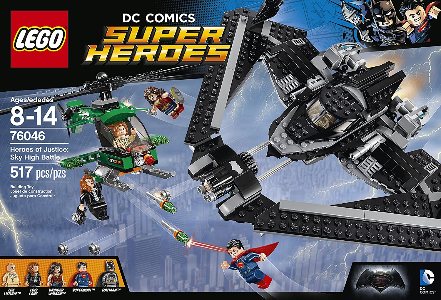 Amazon.com: LEGO Super Heroes Heroes of Justice: Sky High Battle 76046:  Toys & Games