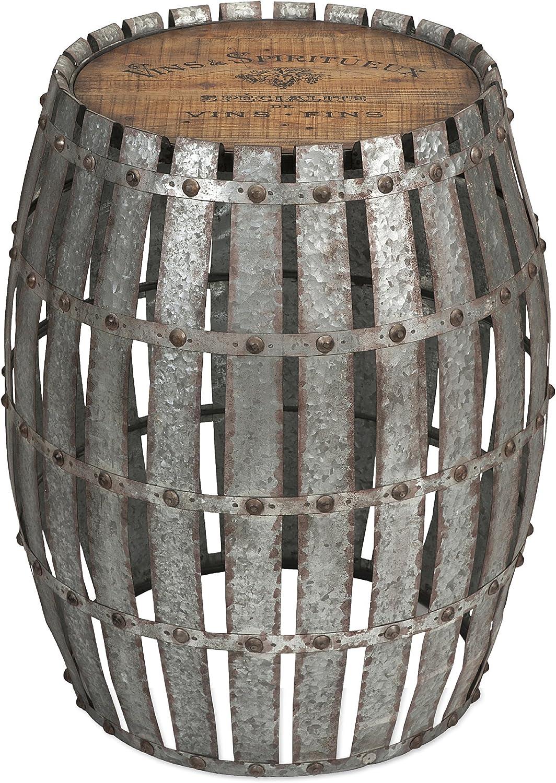 IMAX Gibbs Wood and Metal Barrel