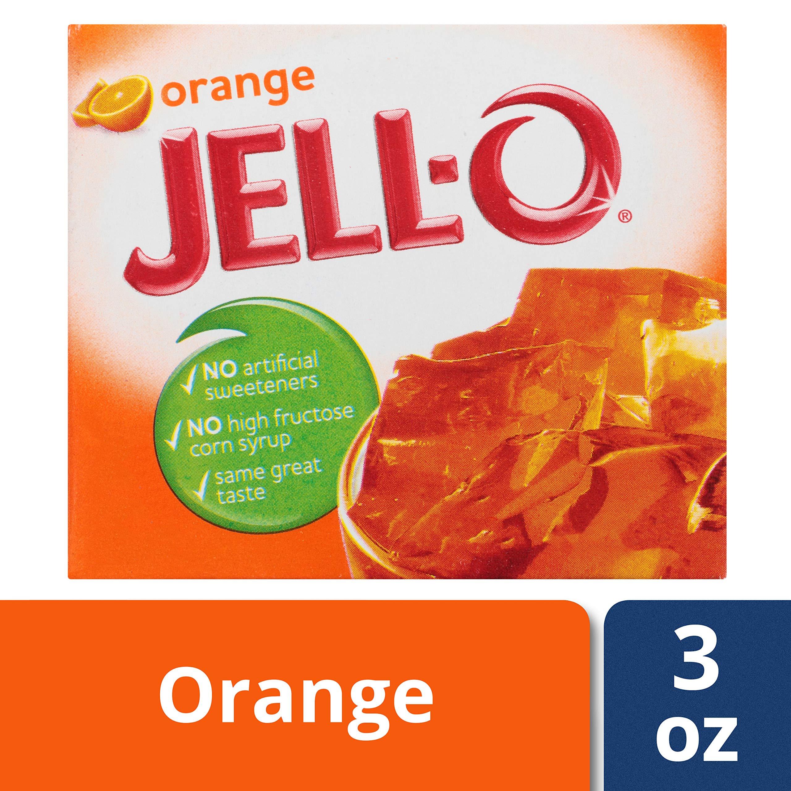 Jell-O Orange Gelatin Dessert Mix, 3 oz Box