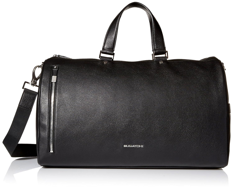 BUGATCHI Mens Full Grain Leather Weekender Bag
