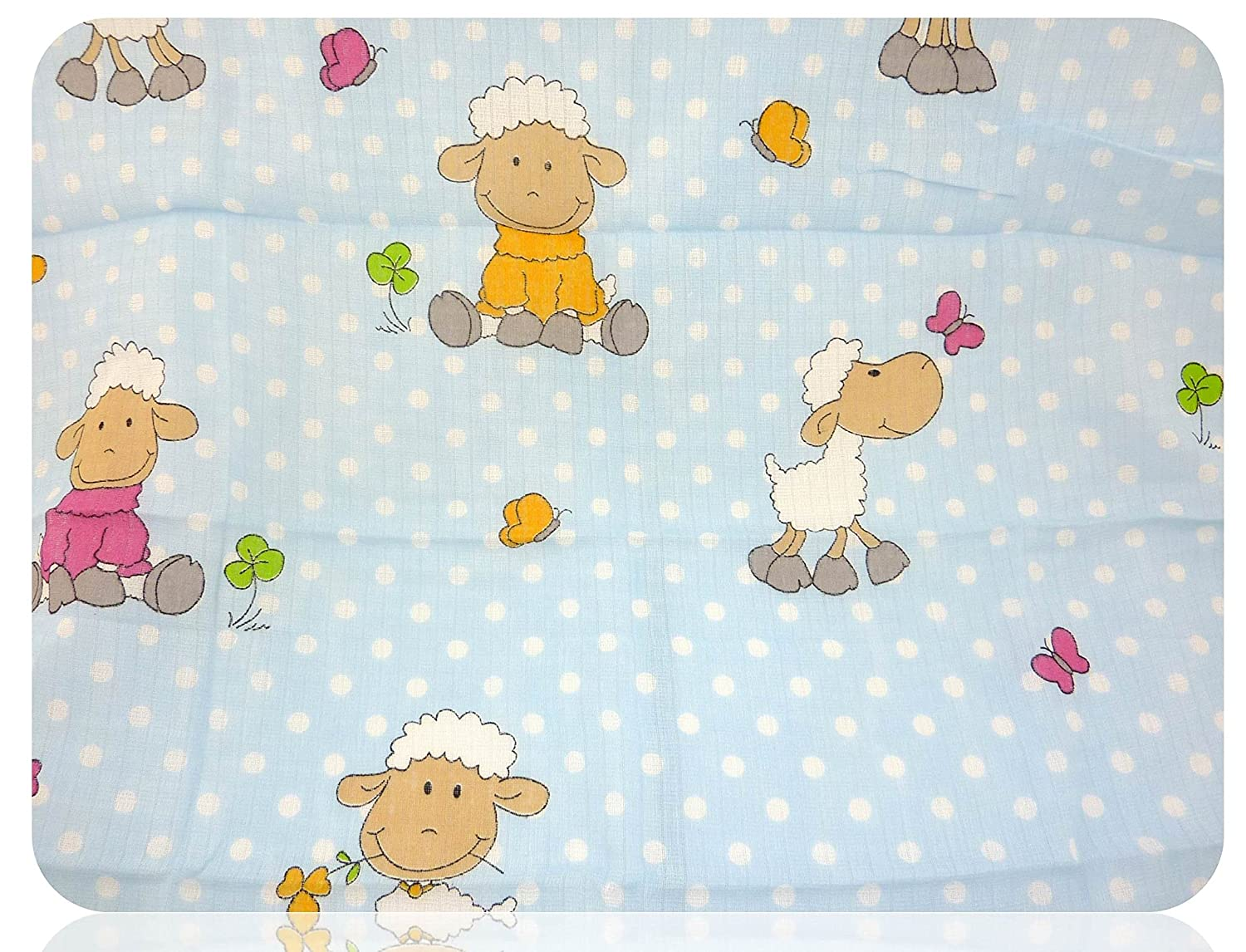 Printed muslin cloths - 5 pack of colourful burping cloths cloth nappies - cotton Family-Kollektion