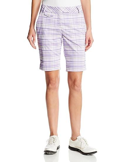 44f0d2f20b Amazon.com   PUMA Golf NA Women s Plaid Tech Bermuda Short   Sports ...