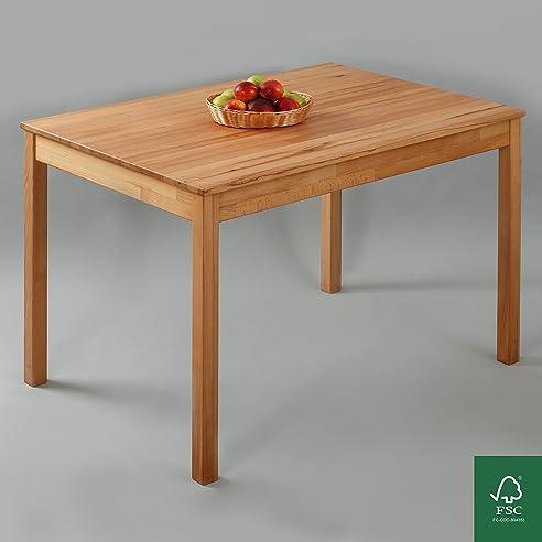 Tisch gezeichnet  Esstisch Massivholz Buche 100% FSC Tomas Esszimmertisch Massivholz ...