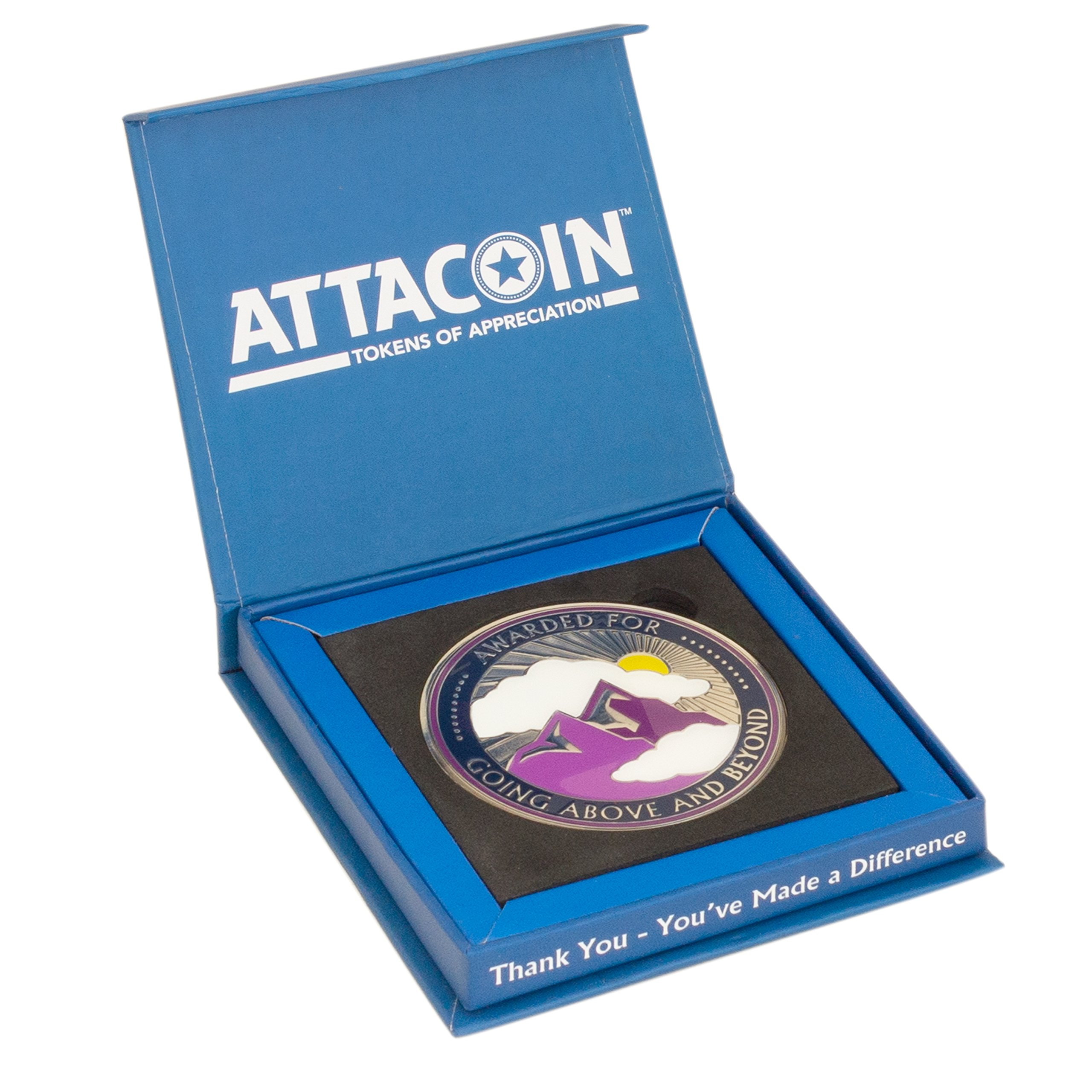 AttaCoin Large Going Above and Beyond Coin + Display Box, Thank You Gift Series by AttaCoin
