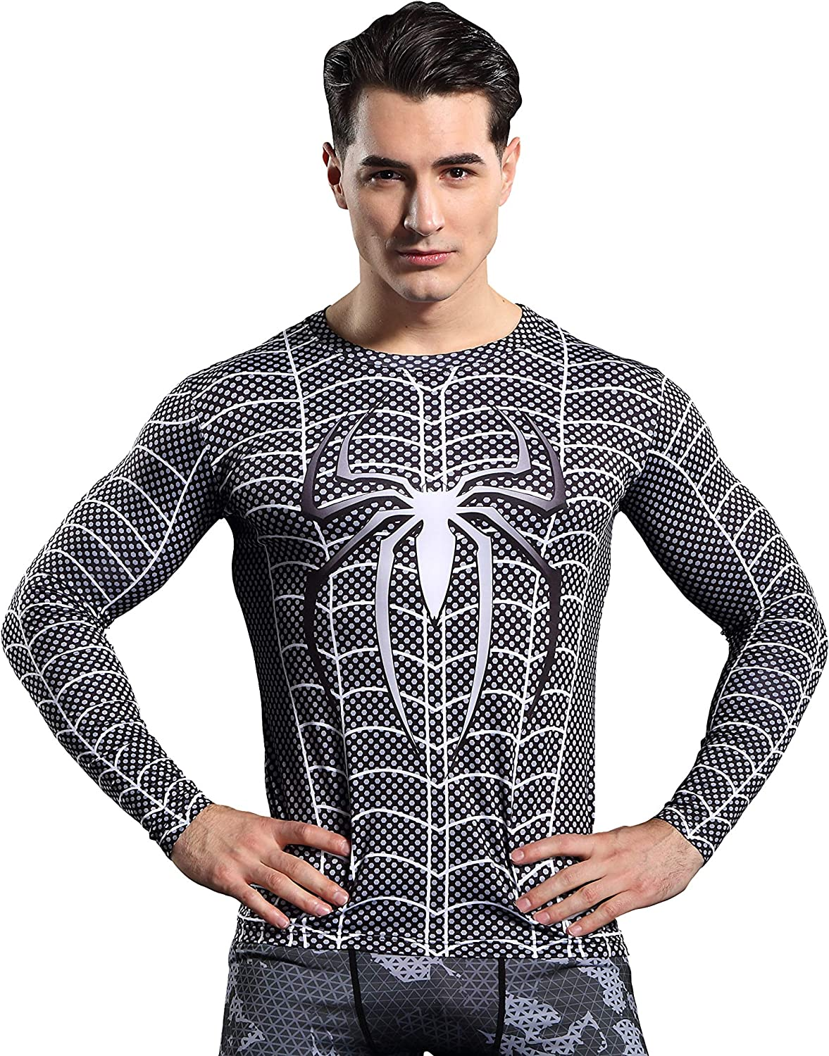 GYM GALA Spiderman Men's Compression Shirt 3D Print T-Shirt