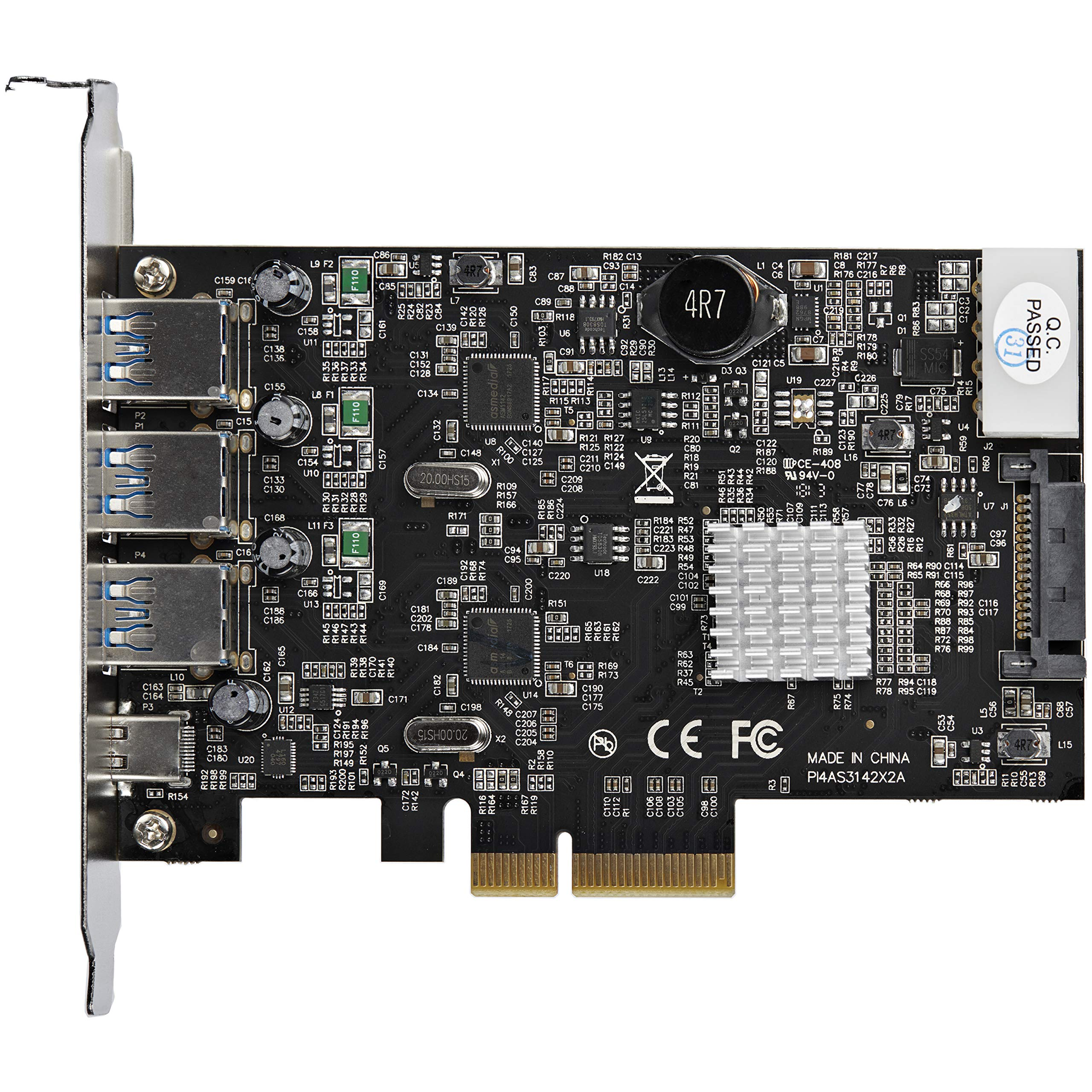 StarTech.com USB 3.1 PCIe Card - 3X USB-A and 1x USB-C - 2X Dedicated Channels - USB C PCIe Card - USB 3.1 Controller Card by StarTech (Image #4)