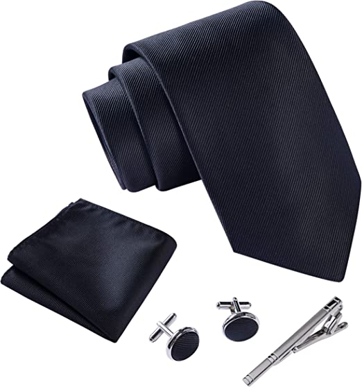 MENS TIE SETS INCLUDES POCKET SQUARE AND TIE PIN