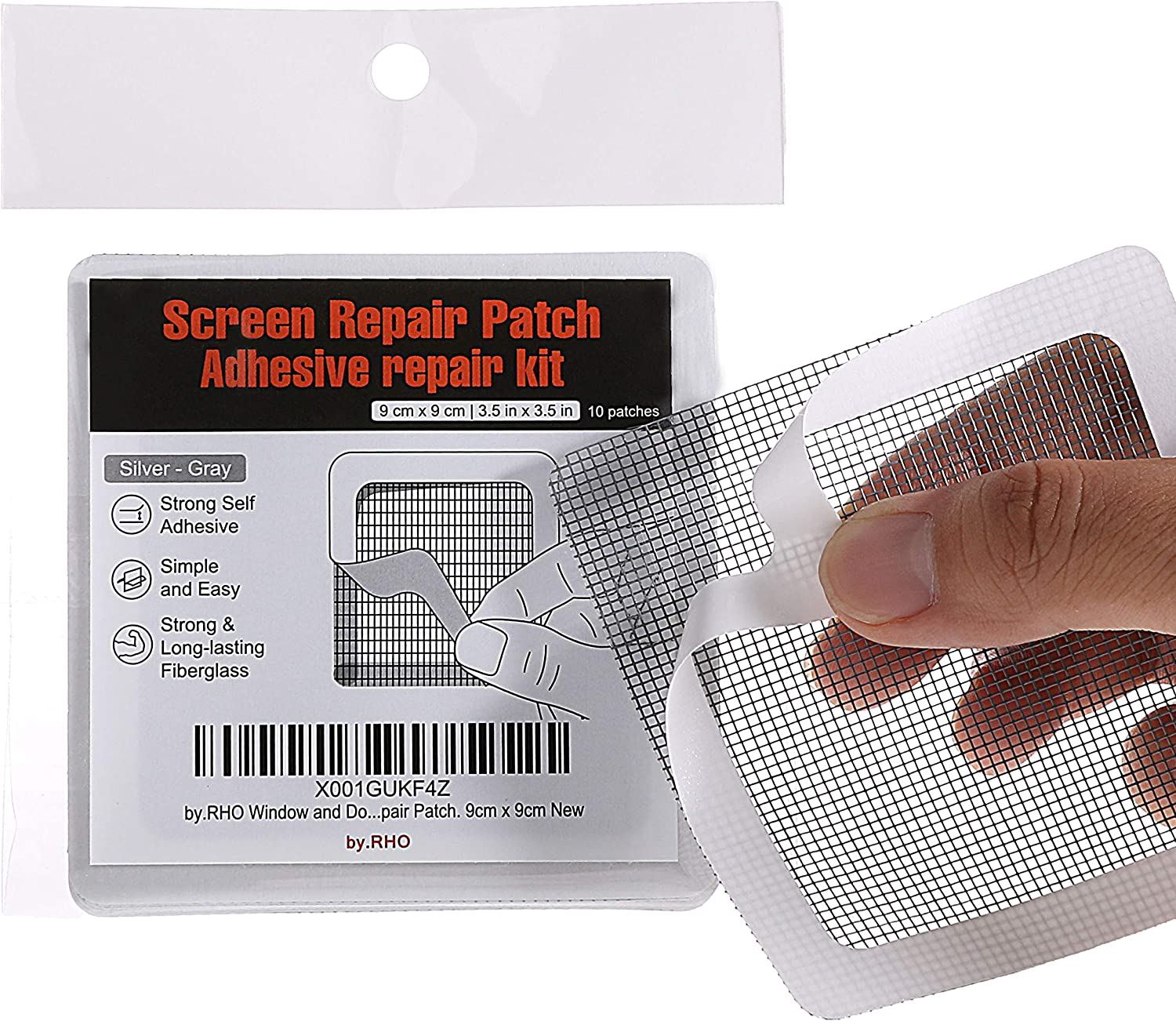 "by.RHO Window and Door Screen Repair Patch kit. 10 Patches, (3½"" x 3½"") (9cm x 9cm)"