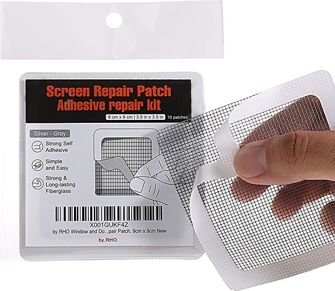 3-layer Strong Adhesive /& Waterproof Ideal for Coverin by.RHO Screen Repair Kit