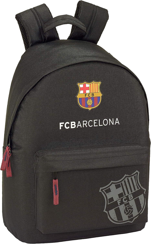 FC Barcelona Black Oficial Mochila Juvenil Para Portátil 14,1