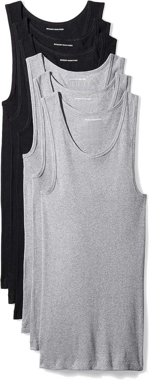 Amazon Essentials 6-Pack Tank Undershirts Undershirts Hombre (Pack de 6)