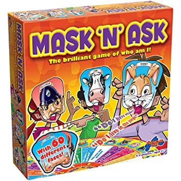 wylot online Nowe zdjęcia zniżka Drumond Park Mask 'N' Ask Board Game | Family Board Games for Kids |  Guessing Game & Preschool Learning Educational Toys | Children Board Game  ...