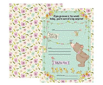 amazon com teddy bear picnic party invitations supply decoration