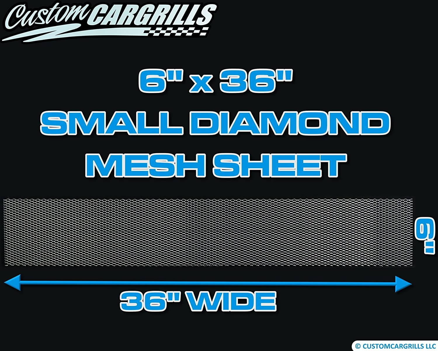 CCG 6x36 Small Diamond Grill Mesh Sheet Silver
