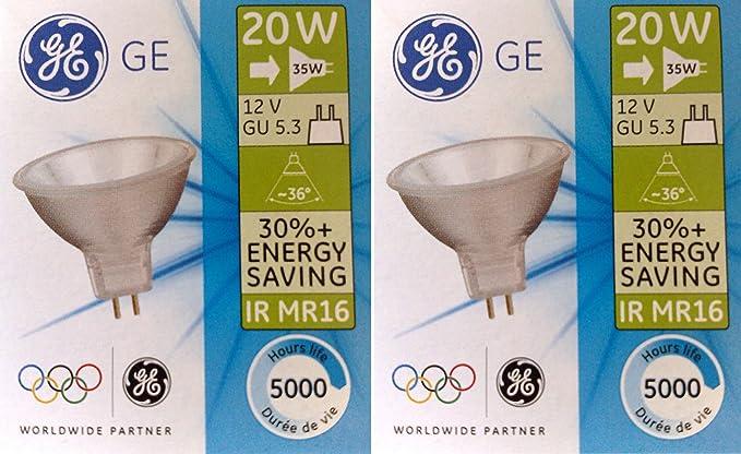 2 x GE 20 W (=35 W) LED MR16 GU5.3 12 V Ahorro de energía ...