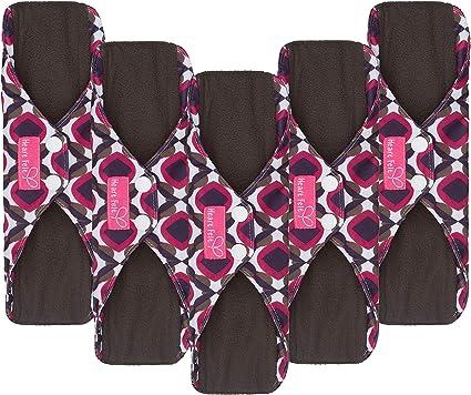 9 Organic Reusable Menstrual Pad Purple Color