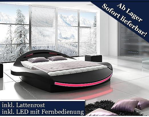 Bett Mit Led Beleuchtung 180X200   Xxxl Designer Bett Designerbett Led Beleuchtung Schwarz Schwarz