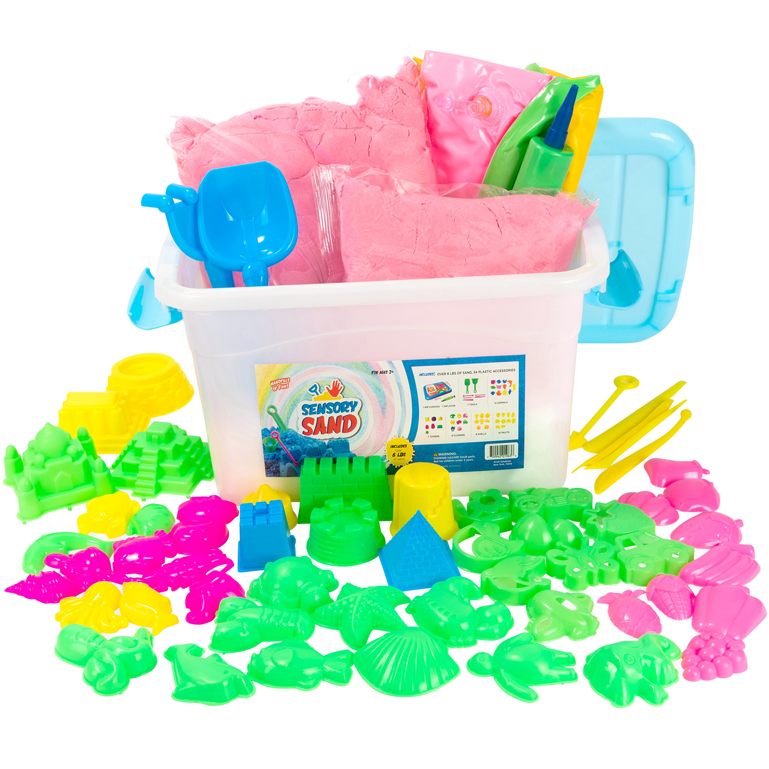 Sensory Sand Kit (Pink, 6 Pound)