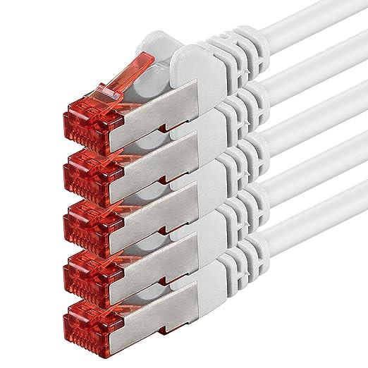 28 opinioni per 0,5m- bianco- 5 pezzi- Rete Cavi Cat6   S-FTP   CAT 6   doppia schermatura  