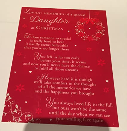 Tarjeta de Navidad para recuerdo de seres queridos, texto en ...