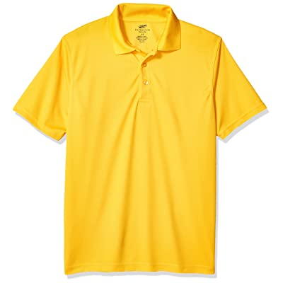 AquaGuard Men's Cool & Dry Mesh Pique Polo, Gold, 2X-Large at Men's Clothing store