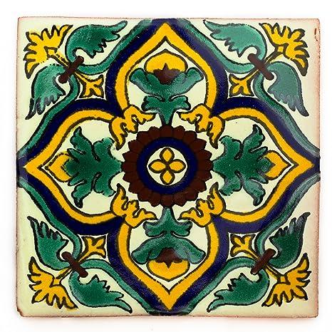 Azulejo individual Azulejos Mexicanos Artesanales de Talavera de 5cm
