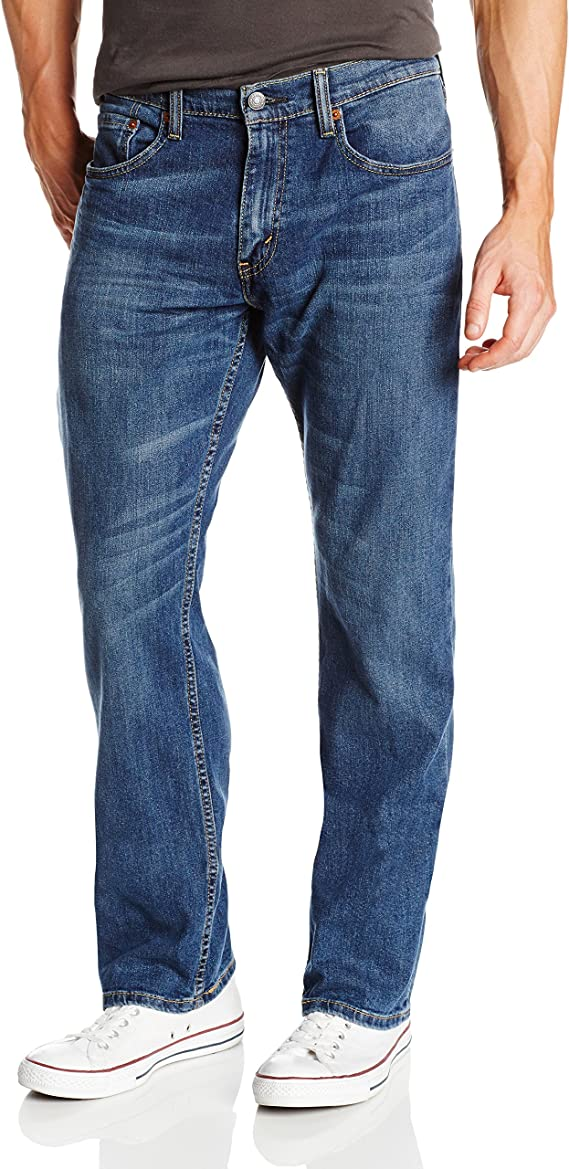 Levi's Men's 559 Relaxed Straight Fit Jean - 38W x 34L - Steely Blue - Stretch
