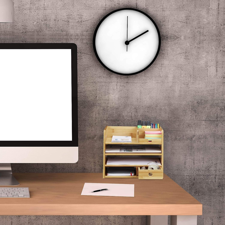 Schreibtisch Organizer Briefablage A4 Tischorganizer Papierablage Ordnungssystem