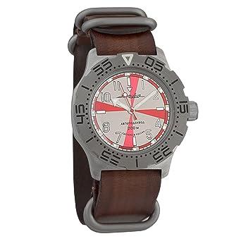 Vostok Komandirskie K35 Radio Room Russian Military Wristwatch WR 100m Leather Strap #350651