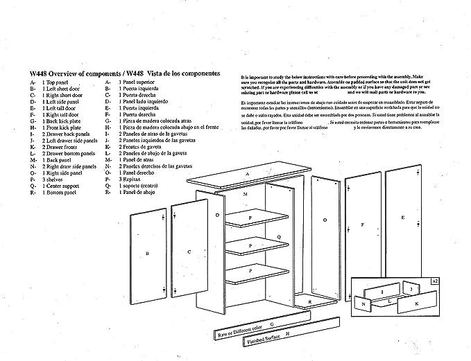 Amazon.com: Ready to Assemble 48 Inch 4 Door Wardrobe Closet Bedroom ...