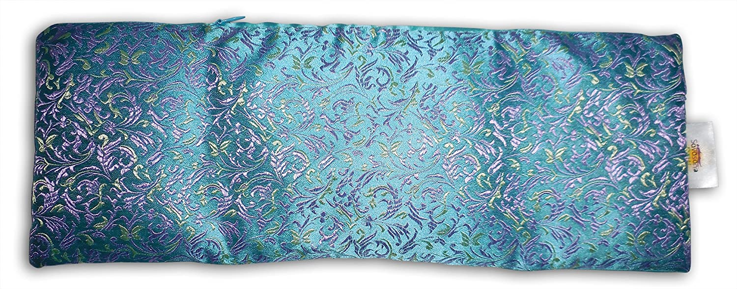 Extra Large Eye Pillow: Lavender & Flax seed filled, with carry pouch. Doubles as a luxurious heat/cooling sack Savasana Now