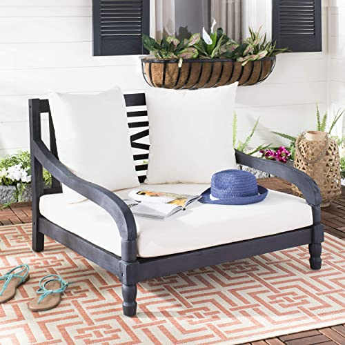 Safavieh PAT6740K Outdoor Collection Pomona Grey Lounger Lounge Chair