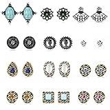 Amazon Price History for:Finrezio 12 Pairs Multi Stud Earrings for Girls Women Cute Vintage Earrings Set