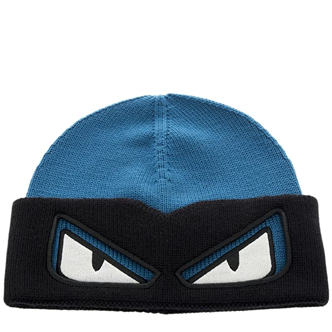 d57934edadd Fendi Unisex Bag Bugs Convertible Wool Ski Hat Blue  Amazon.ca  Clothing    Accessories