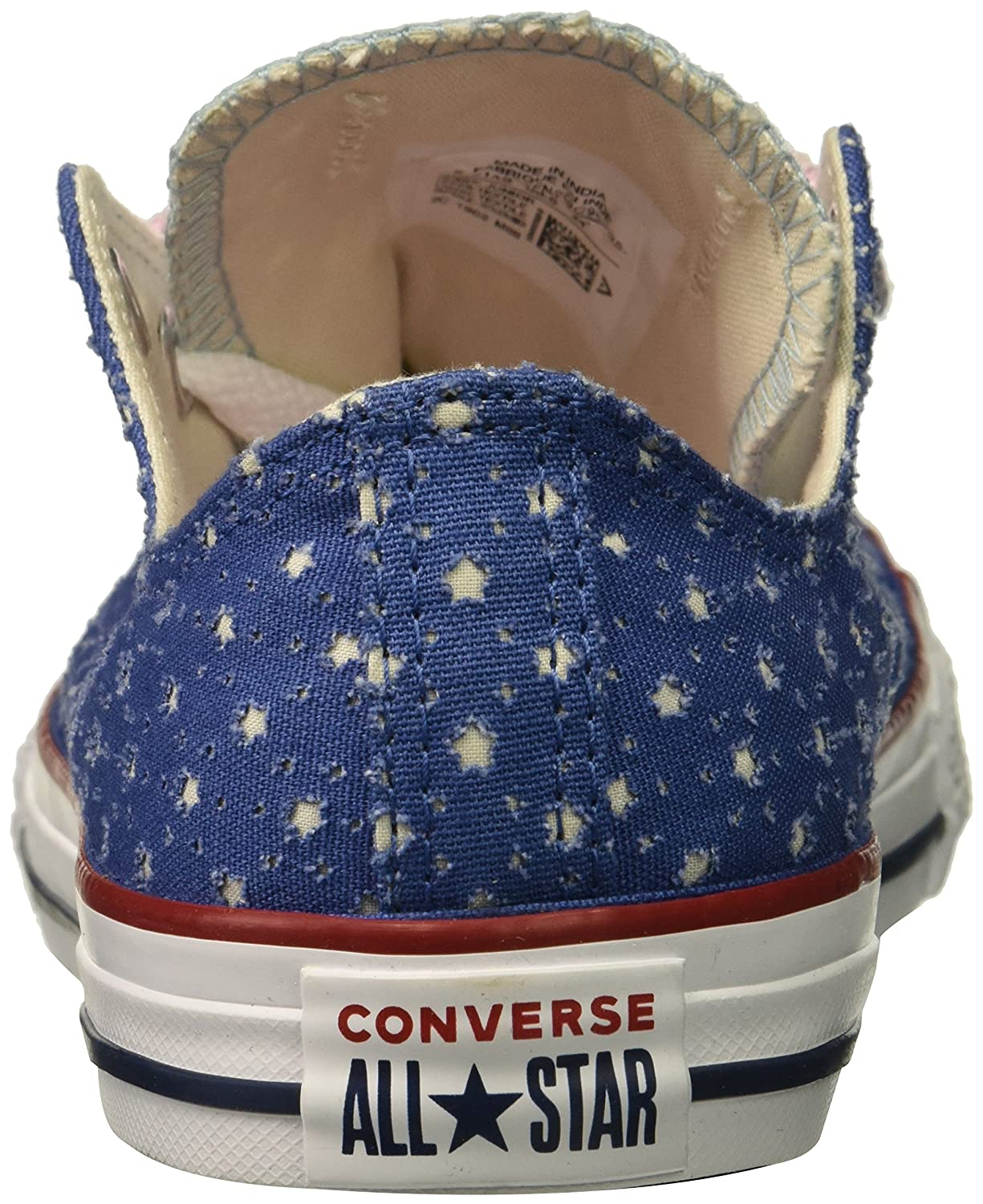 Converse Kids Double Tongue Star Perforated Low Top Sneaker