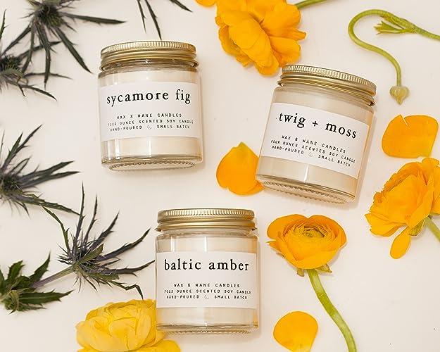 Amazoncom Best Selling Soy Candle Gift Set Handmade