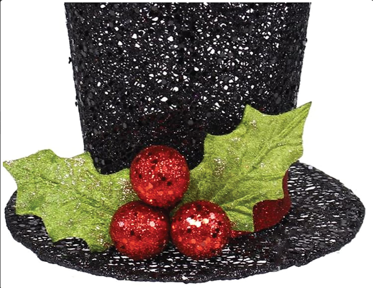 craig bachman black glitter christmas top hat 775 - Christmas Top Hat