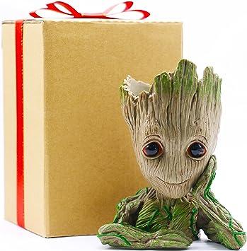 Groot Flowerpot Action Figures Pen Holder Desk Organizer Decoration Gift for Kid