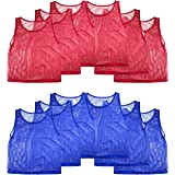 Super Z Outlet Nylon Mesh Scrimmage Team Practice Vests Pinnies Jerseys for Children Youth Sports Basketball, Soccer…
