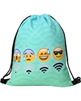 "Deanfun Men's Women's Print Shoulder Drawstring Bag Backpack String Bags School Rucksack Gym Handbag (animals,foods)15""x11"" (DB-112)"