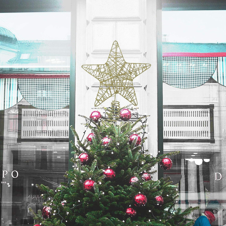 BELLE VOUS Decoracion Arbol Navidad - Adornos Árbol Navidad Coronar Arbol - 4