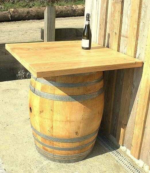 Vino barril mesa con tablero de la mesa de roble sólido. Opcional ...