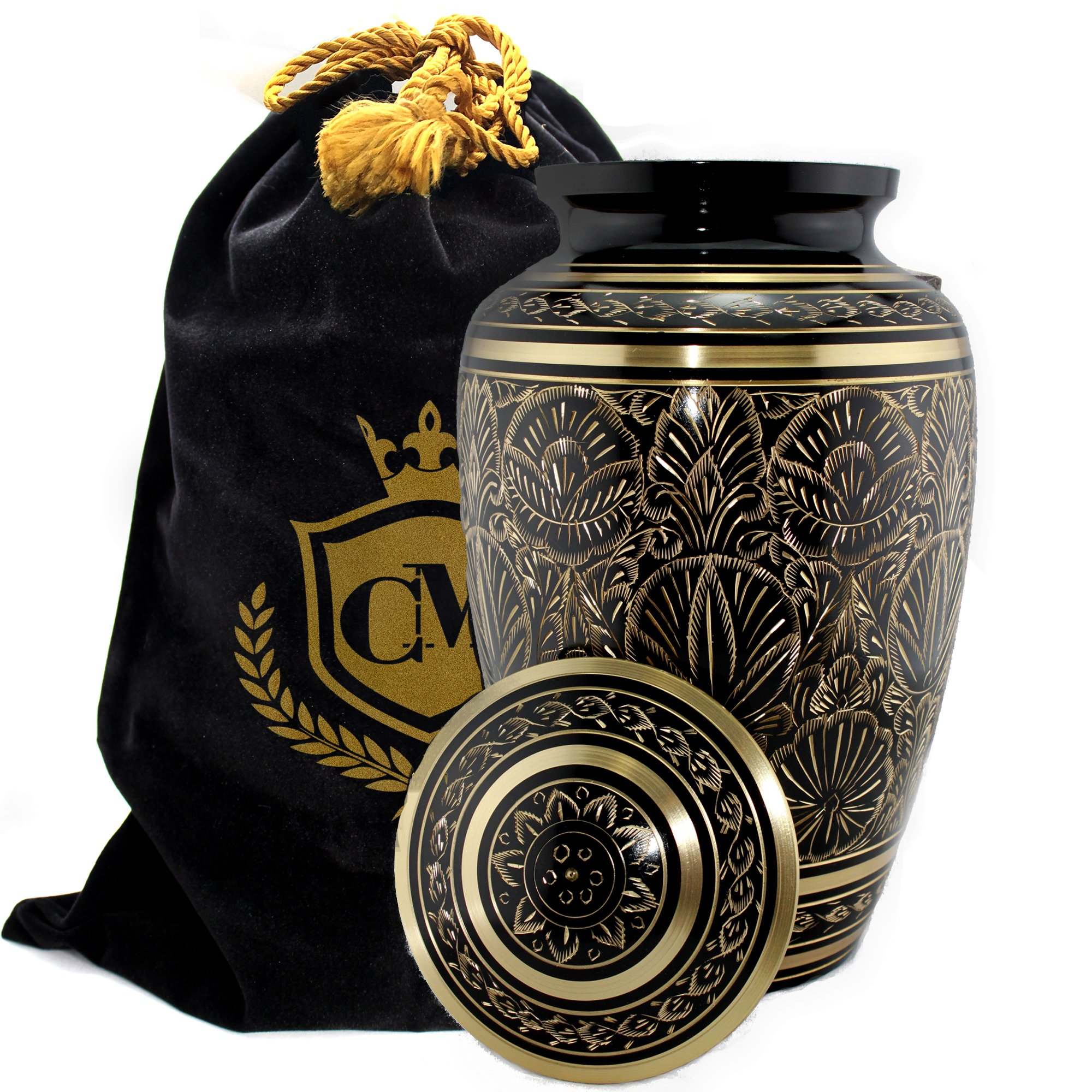 Majestic Radiance 100% Brass Cremation Urn for Human Ashes Large and Small (Large)… by Connolly Memorials (Image #2)