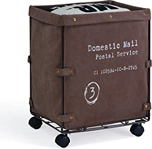 Danya B. LY209 Collapsible Canvas Laundry/Clothing Hamper with Wheels