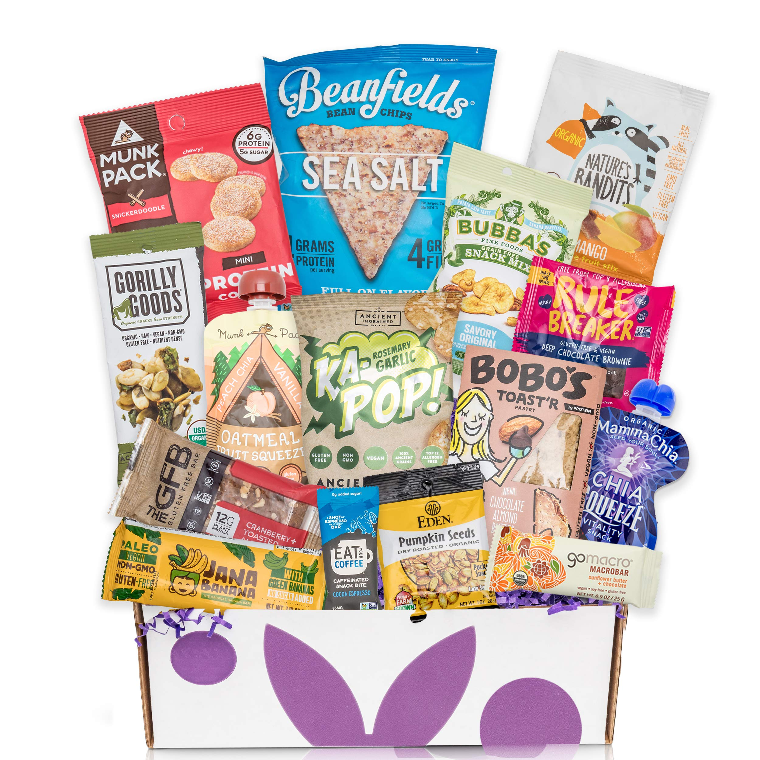 Vegan Gluten Free Dairy Free Healthy Snacks: Perfect College Care Package, Camp Care Packages, Vacation Packages Snack Gift Box by BUNNY · JAMES ·