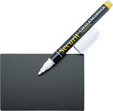 2 Supporti trasparenti compresi formato A5-1 pennarello bianco 4 Supporti con punta Securit Set da 10 lavagnette Tag
