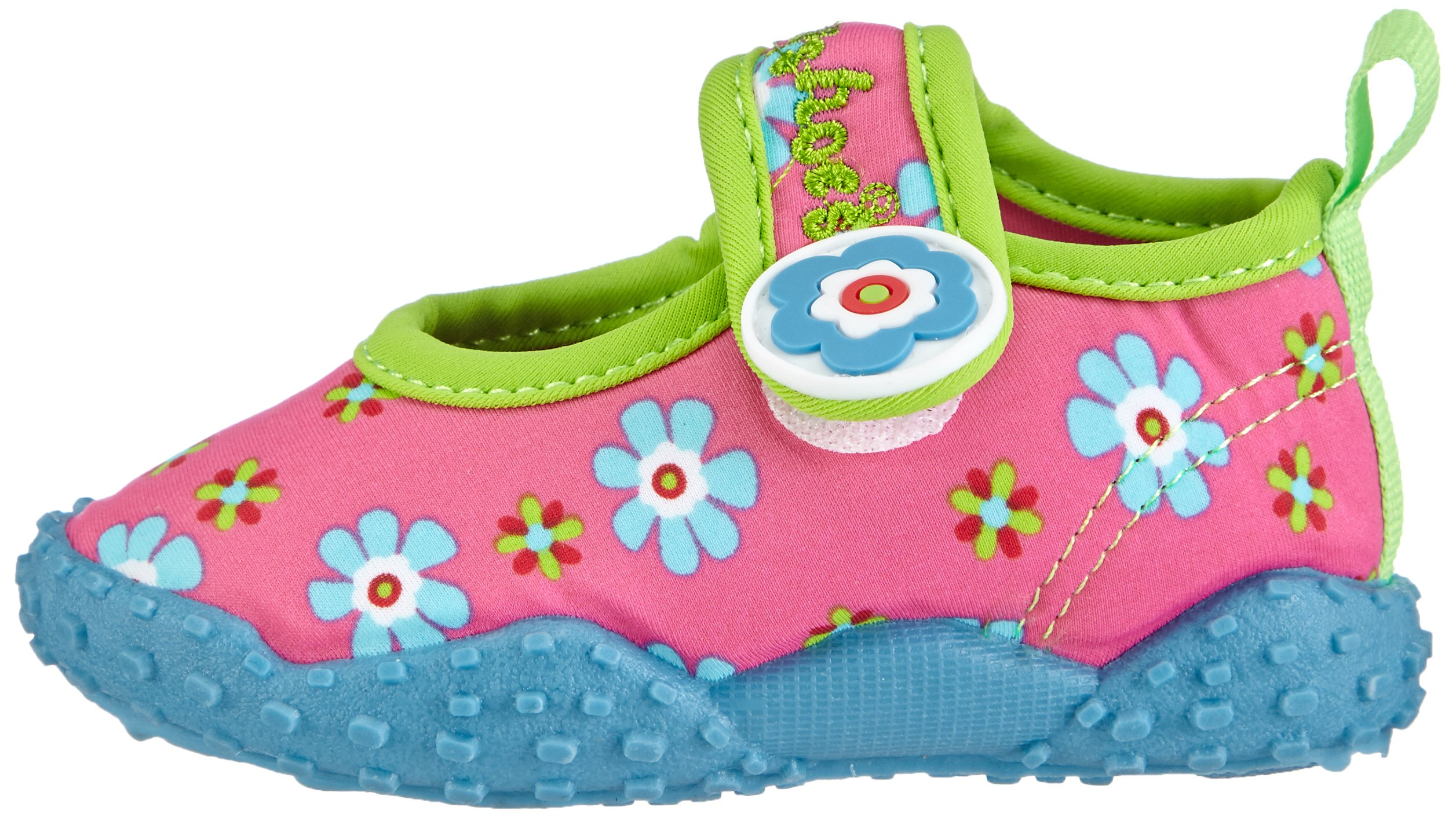Playshoes Girl's UV Protection Flower Collection Aqua Swimming/Beach Shoes (4.5 M US Toddler) by Playshoes (Image #5)